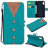 iPhone X (5.8 Zoll) H�lle, Leder Tasche Handyh�lle Flip Wallet Schutzh�lle f�r iPhone X (5.8 Zoll) mit St�nder und Kartenf�cher/Magnetverschluss (2) Bild