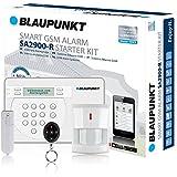 Blaupunkt SA 2900 Smart GSM Funk-Alarmanlage / Funk-Sicherheitssystem Set mit Bewegungsmelder, Tür/Fenstersensor, Fernbedienung, App / Für Haus, Wohnung, Büro, Geschäft