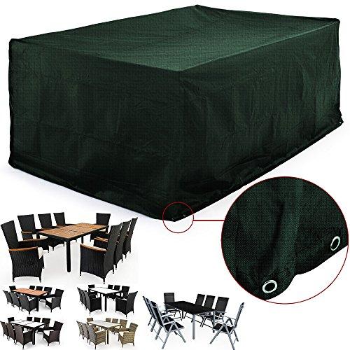Deuba Abdeckung Sitzgruppe 8 + 1 | Modellauswahl | Sitzgruppe Stühle +  Tische | 308 X 138 X 89cm | Rechteckig | Schutzhülle Abdeckplane Plane  Abdeckhaube ...