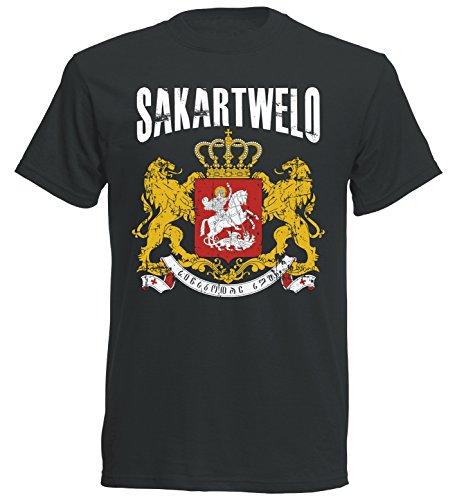 T-Shirt Georgien WM 2018 SC Vintage Destroy Wappen D01 (M)