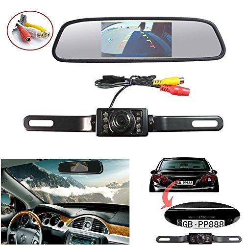 Dax 4.3 Pulgadas Color Sistema De Cámara Retrovisor Visión Trasera + Monitor TFT LCD Camara De Vision Trasera Para VW / Audi / Mercedes / Opel / Toyota / Chrysler Cámara Trasera