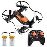 Lictin Mini Drone 2.4G 6-Achsen Ferngesteuerte Drohne mit Zwei Batterien Kopflos Modus Drohne Spielzeug Drohne Geschenk für Anfänger Kinder Ohne Kamera