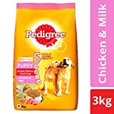 Pedigree Puppy Dry Dog Food, Chicken and Milk, 3 kg