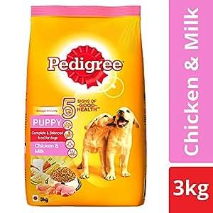 Pedigree Puppy Dry Dog Food, Chicken & Milk – 3 kg Pack
