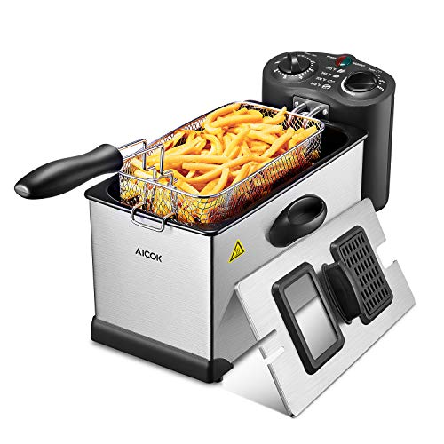 Aicok Deep Fat Fryer 3L, Stainle...