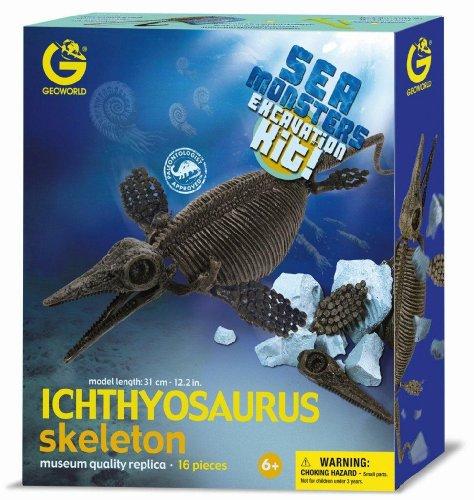 Imagen principal de Geoworld Sea Monsters Excavations Kit 23211398 Ictiosaurio - Kit de excavación de esqueletos de dinosaurios (31 cm) [importado de Alemania]