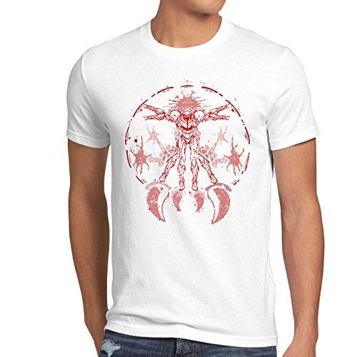 A.N.T. Vitruvian Samus DaVinci Herren T-Shirt, Größe:L;Farbe:Weiß