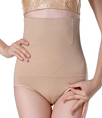Damen Miederslip mit Bauch-weg-Effekt Miederhose Butt Lifter Shaper figurenformend Shapewear Beige XL/XXL (Unterwäsche Hochzeit)