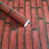 REAGONE Selbstklebendes PVC-Tapeten, Tapete, Verpackung Label und Aufkleber Das ist 5 M, Orange 5 Meter Red Brick, Large726436