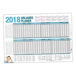 itenga Urlaubsplaner 2018 Wandkalender DIN A1 (84,1 x 59,4 cm) 170g/m² Personalplaner gerollt geliefert