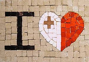 Trois petits points Juego de 3 pequeños Puntos de Mosaico Completo M Love Malta-Maxi, 6192459600987, Universal