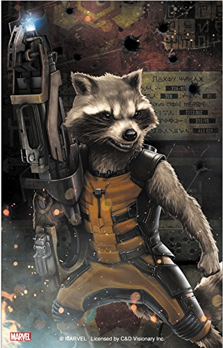 "Preisvergleich Produktbild GUARDIANS OF THE GALAXY Movie Rocket Fight, Officially Licensed Art, 3.5"" x 5"" - Long Lasting Sticker Aufkleber DECAL"