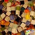 Mosaiksteine Glasmosaik 1x1cm Mix 1000gramm von Mosaikpalast24 auf TapetenShop