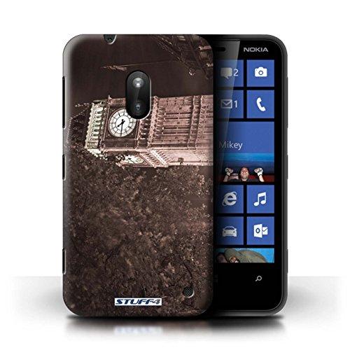 Kobalt® Imprimé Etui / Coque pour Nokia Lumia 620 / Big Ben conception / Série Londres Angleterre Big Ben Sepia