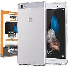 Orzly® - FlexiCase para HUAWEI P8lite SmartPhone (5,0 Pulgadas Modelo Teléfono Móvil) - Funda Protectora de Gel Flexible - 100% TRANSPARENT