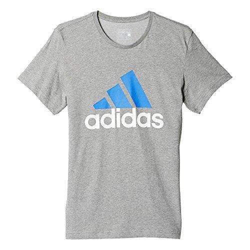 adidas Herren Logo Tee1 T-Shirt Grau/Blau
