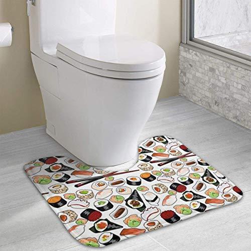 Hoklcvd Thunfisch-Sushi Rutschfeste Kontur Badematte für Toilette, saugfähiges Wasser, perfekt für Badezimmer. Kaufen Sie Badematten online zu den besten Preisen