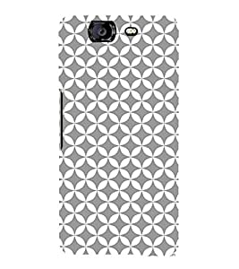 Grey Self Design 3D Hard Polycarbonate Designer Back Case Cover for Micromax Canvas Knight A350