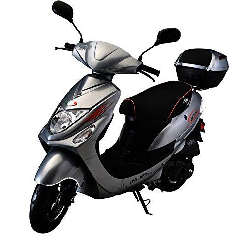 IVA Motorroller NEW JET 50 ccm inkl. Topcase, Silber 45 km/h