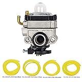 OxoxO Carburateur Carb avec 4 tailles-4 pieds Tuyau de carburant pour Troy-bilt Tb575ss / 590bc / 146ec Walbro Wyl-19-1 / -19 / -229 / -229-1 Certains de Tillotson T230 / 230x / 230x R-emc Gas Trimmer