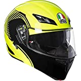 Casco modulare apribile Agv Compact St Vermont Giallo fluo nero yellow Black flip up helmet (XL)