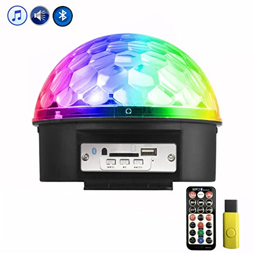 Discokugel, Eyourlife LED Partylicht Discolicht 9 Farben Lichteffekte Projektor mit Fernbedienung USB-Stick Bluetooth Funktion für Hochzeit Party DJ Club Bar KTV