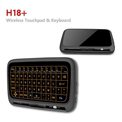 Wireless-tastatur Und Maus Touch (SIMCAST Pocket 2.4GHz Kabellose Tastatur Maus mit vollem Touchpad zum r Windows Mac Chrome Android TV Box, Kodi,HTPC, IPTV, PC, PS3 ,Xbox 360, Raspberry Pi 3,NVIDIA SHIELD TV(2017 Neue Ver, Weltweit erste Full-Touch-Tastatur))