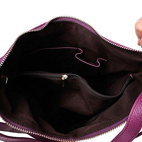 SAIERLONG MsBP Nuovo Donna Marrone Vacchetta Sacchetti di spalla Zaino casuale Borse Daypacks viaggio College School dello Zaino dello zaino Viola