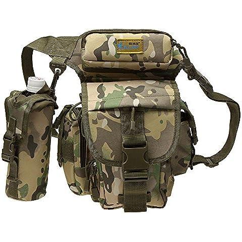 Lixada sport esterno tattico militare dello zaino Molle Zaini campeggio Escursionismo Bag Marsupio da running