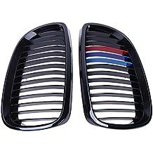 Rejillas de riñón Negro Brillante en Color M Delantera del Coche para BMW E92 E93 316i