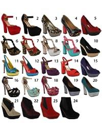 Footwear Sensation - Zapatos de vestir de material sintético para mujer