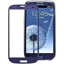 Pantalla lcd portaobjetos de vidrio de cristal para Samsung i9300 Galaxy S3 SIII Pebble Azul