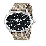 Timex Expédition Scout - Reloj análogico de cuarzo con correa de nailon para hombre, Beige (Beige/Negro)