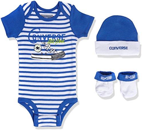 Converse Baby - Jungen Bekleidungsset Chuck Allstar Box, Gr. 0/6 Monate (Herstellergröße: 0-6M), Blau (Oxygen Blue)