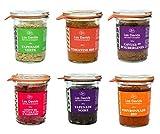 Les Davids - Pack de 6 apéritifs - Tapenade noire, tapenade verte, tomatine, poivronnade, caviar d'aubergines, confit de betteraves