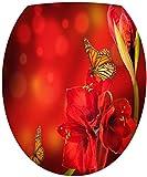Sticker Autocollant Abattant WC Fleurs Papillons 35x42cm SAWC0008