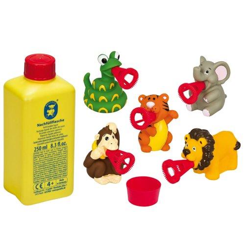 Pustefix - 5 animales Mundo Safari con botella, 250 ml (Carrera 420869573)