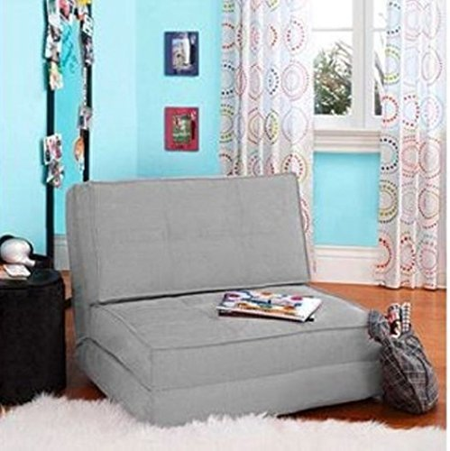 Convertible Couch (Your Zone - Flip Chair Convertible Sleeper Dorm Bed Couch Lounger Sofa Multi Color New (Grey) by Your Zone Bed)