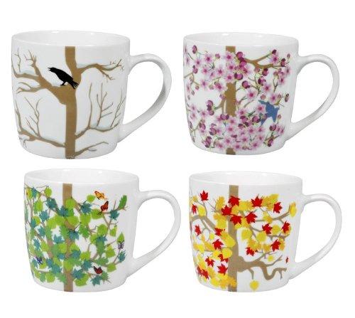 Puhlmann - Set di 4 tazze mug, motivo: stagioni
