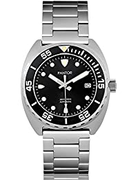Pantor Sealion 300m Automatic Pro divers watch with Helium Valve Rotating Bezel Sapphire with both stainless steel bracelet and Rubber strap dive watch