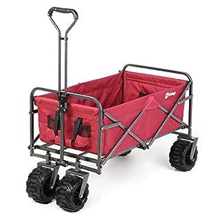 Sekey Chariot de Jardin Pliable pour Tous Les terrains Rouge