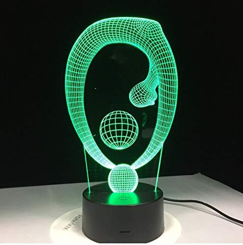 Veilleuses Cadeau Lampe De Yoga À Distance 3D Lampe 7 Couleur Led Nuit Pour Enfants Touch Led Usb Table Lampara Lampe Bébé Veilleuse