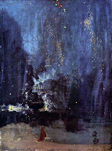 Das Museum Outlet–Nacht in Schwarz und Gold, The Falling Rocket von Whistler–Leinwand...