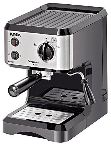 Krea ES150freistehend halbautomatisch Maschine Espresso 1.25L 1Tassen Edelstahl-(freistehend, Maschine Espresso Kaffeemaschine, Edelstahl, Tasse, Edelstahl, Knöpfe, Rotation)
