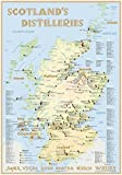 Scotland's Distilleries - Poster 100x70cm (incl. a set of poster holders): The scotisch Whisky Landscape in Overview