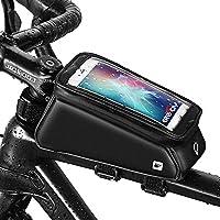Grefay Bolsa Marco Bicicleta Impermeable Bolso Manillar Bicicleta Soporte Teléfono Bici Tubo Superior Bolso con Pantalla Táctil TPU debajo Teléfonos Inteligentes de 6 pulgadas