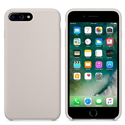 Ouneed® Hülle für iphone 7 plus 5.5 Zoll , High Quality Leather Slim Case Cover Shell für iPhone 7 Plus 5.5 Zoll (5.5 Zoll, Weiß) Beige