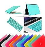 Eagle® Coque à clipser rigide en caoutchouc enclipsable + protection clavier incluse Macbook  Pro 15' with Retina Display (Model A1398) turquoise