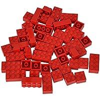 Neu City Basics Lego 30 Stück Stein 1x2 blau Steine blaue Basicsteine 3004