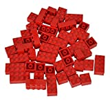 Simba 104114123 - Blox 50 rote Steine in Folienbeutel
